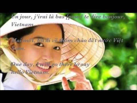 Bonjour Vietnam (paroles / lyrics) [Hello Vietnam] by Trần Thái Hoà