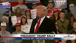 MAGA RALLY: President Trump in Missoula, MT night before AZ rally (FNN)