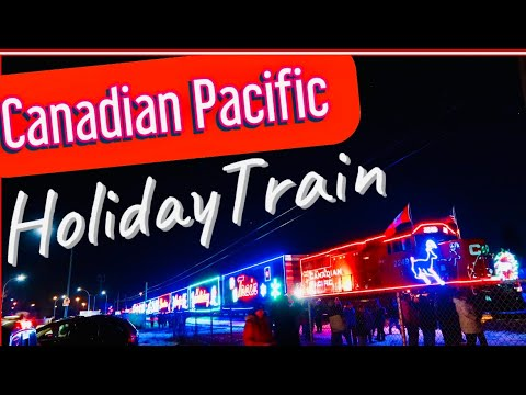 HOLIDAY TRAIN CANADA 🇨🇦   CP HOLIDAY TRAIN IN WINNIPEG   Canadian Pacific Holiday Train 2019