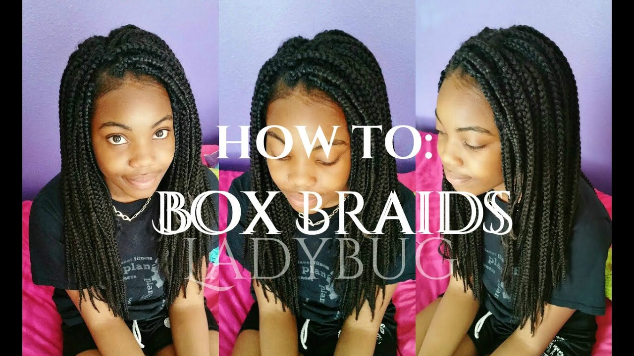 12 Yr. Old Does Her Own Box Braids