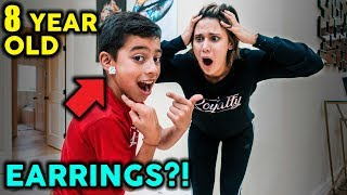 Ferran Get's EARRINGS! PRANK ON MOM | The Royalty Family