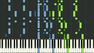 Marche Militaire no.1 piano duet (4 hands) by Franz Schubert - synthesia