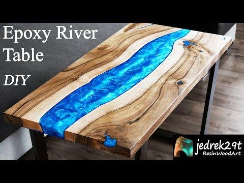 DIY. Resin River Table in a Simple Way / RESIN ART