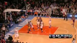 Kobe bryant corner fadeaway 3-pointer!!! | lakers vs. knicks | 12/13/12