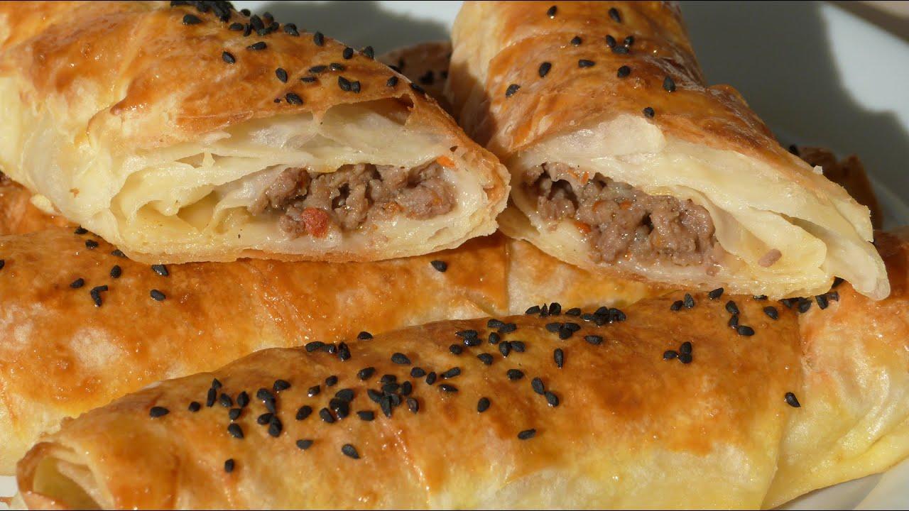 Borek rolls with ground beef turkish spring rolls recipe youtube forumfinder Gallery