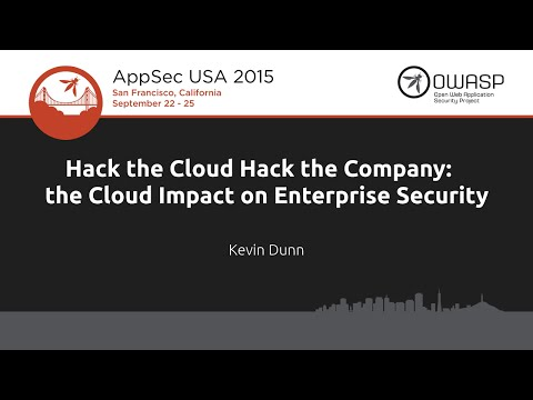 Hack the Cloud Hack the Company: the Cloud Impact on Enterprise Security