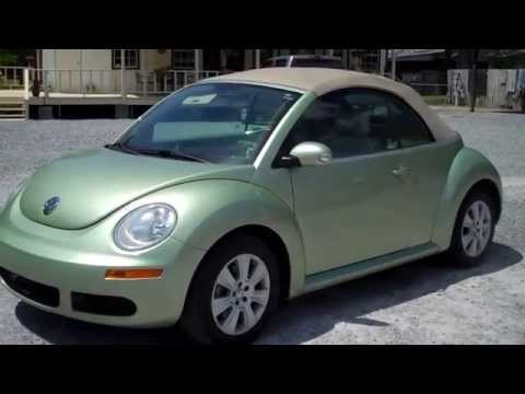 2008 VOLKSWAGON BEETLE CONVERTIBLE FOR SALE LEISURE USED CARS 850-265-9178