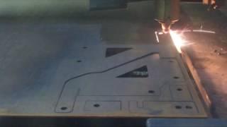 Лазерная резка элементов конвейера из листового металла(Процесс лазерной резки элементов конвейера по чертежам заказчика на заводе компании «Риваль Лазер», 2016-06-28T10:18:43.000Z)