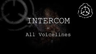 Intercom | All Voicelines with Subtitles | SCP - Containment Breach (v1.3.11)