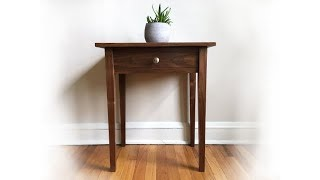 Building an Heirloom Walnut Shaker Side Table | FREE Plans!