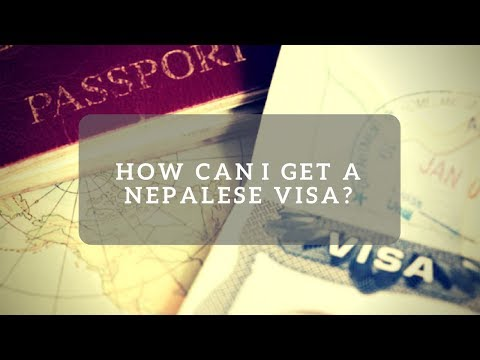 How do I get a Nepalese visa visiting from the UK