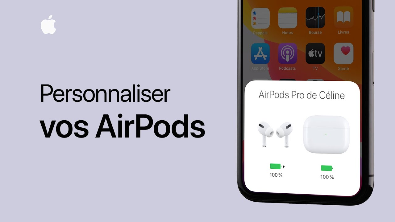 Personnaliser vos AirPods ou AirPods Pro - Assistance Apple