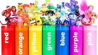 Fun Learning with Colorful Crayons and Surprise Toys Surprise Eggs Blind Bags for Kids