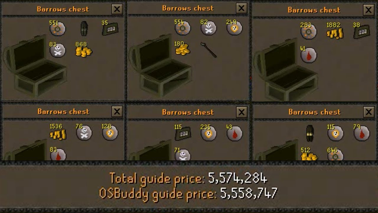 OSRS] Loot From 50 Barrows Chests - Road to 1B from Nothing ...
