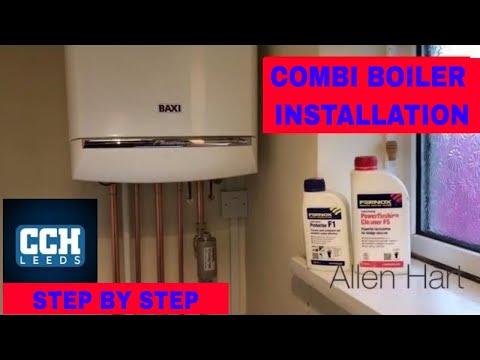 How To Install A Combination Boiler Baxi Gas Combi Boiler Installation