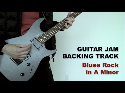 Guitar Jam Backing Track  Blues Rock in Am 82 bpm