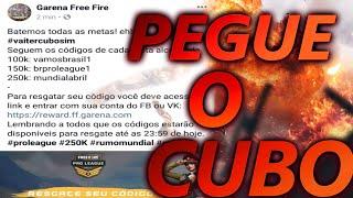 FREE FIRE- COMO RESGATAR O CUBO MAGICO E AS RECOMPENSAS!!