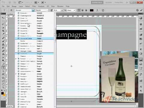 002  Создание этикетки в Photoshop