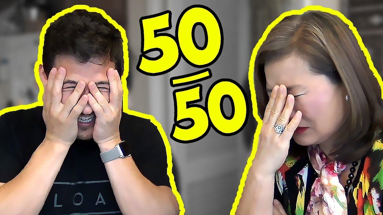 Reddit 50/50 CHALLENGE #4 (feat  MY MOM)