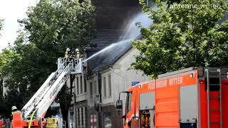 Witten-Annen - Brand in der Annenstraße