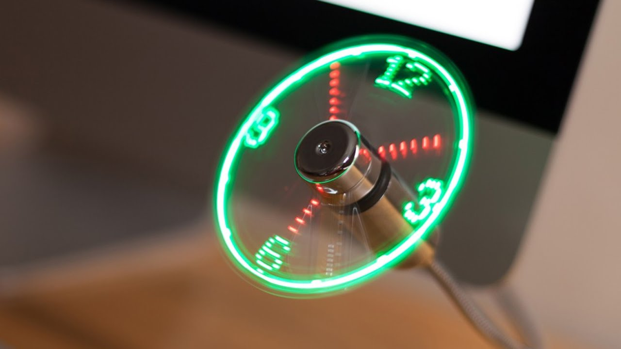 AKORD USB LED Clock Fan