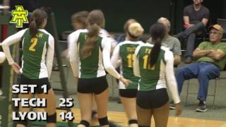 Tech Volleyball vs. Lyon College Highlights - 10/25/16
