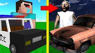 МАШИНА НУБА против МАШИНЫ БАБКИ ГРЕННИ В МАЙНКРАФТ ! Нуб Нашел Троллинг Гараж Гренни Minecraft Мульт