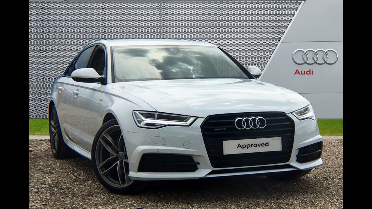 Rf16vsd Audi A6 Tdi Quattro S Line Black Edition White 2016 Reading