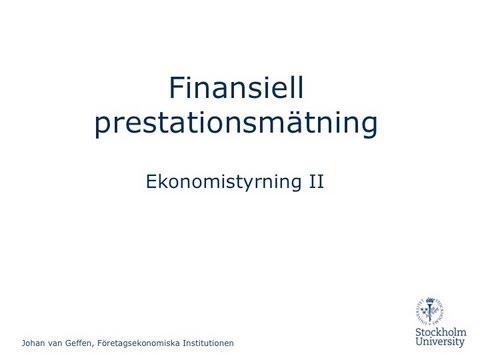 Finansiell styrning. DuPont-modell i Excel
