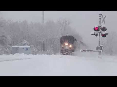 Thumbnail: Amtrak 350 flies through a blizzard at 100mph