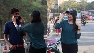 Hot Girl Pulling Cheeks Prank   Oye It's Prank   Pranks In India