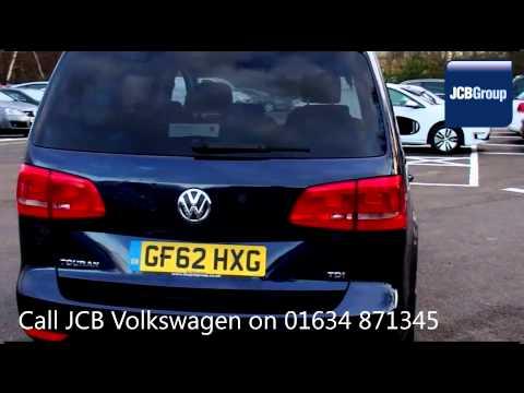 2012 Volkswagen Touran SE TDI DSG 1.6l Night Blue Metallic GF62HXG for sale at JCB VW Medway