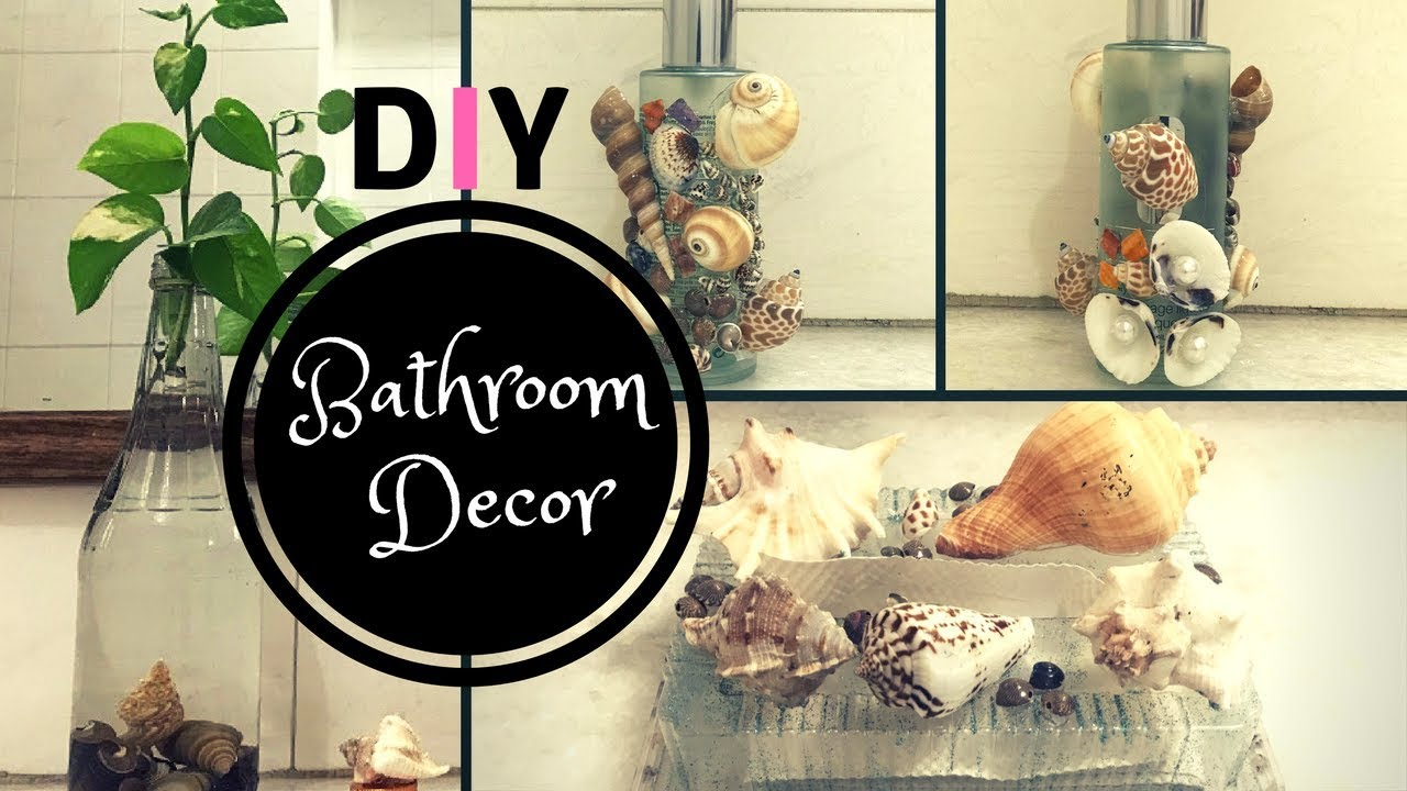 Diy Bathroom Decorating Ideas With Sea Shells Bathroom Decor Youtube