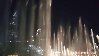 Dubai Fountain Feb 2016 Mon Amour/ Fuente Dubai