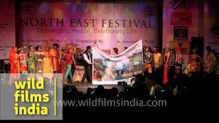 Line of Northeast celebrities at Northeast Festival in Delhi