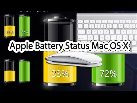 apple battery status mac os x apple magic mouse apple wireless keyboard youtube. Black Bedroom Furniture Sets. Home Design Ideas