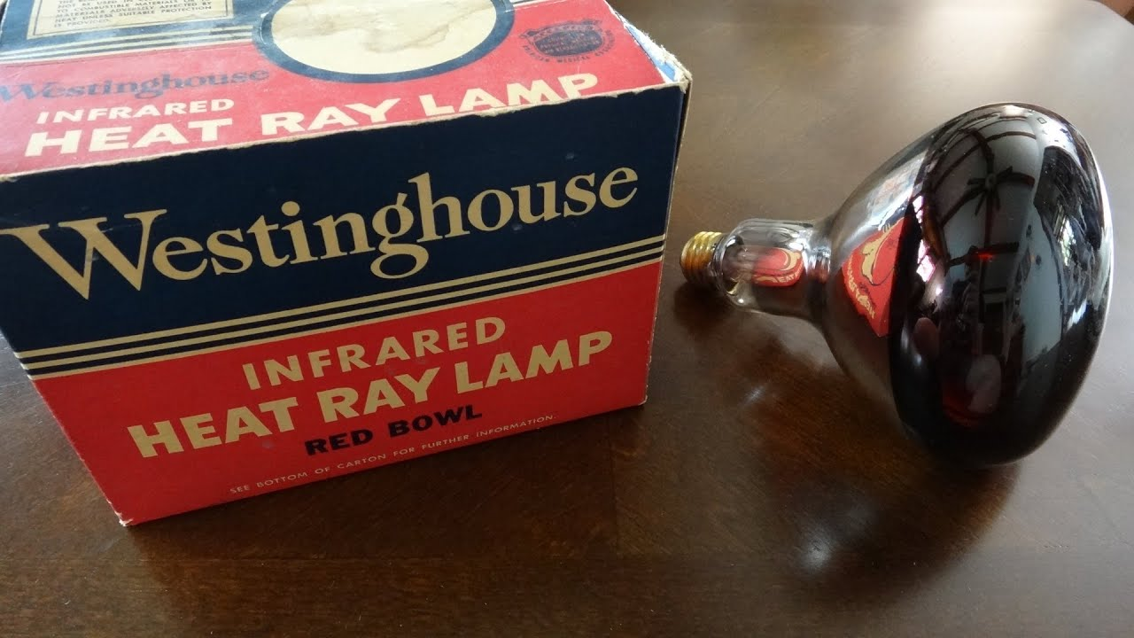 Old Westinghouse 250watt Heat Ray (heat Lamp) Red Light Bulb   YouTube