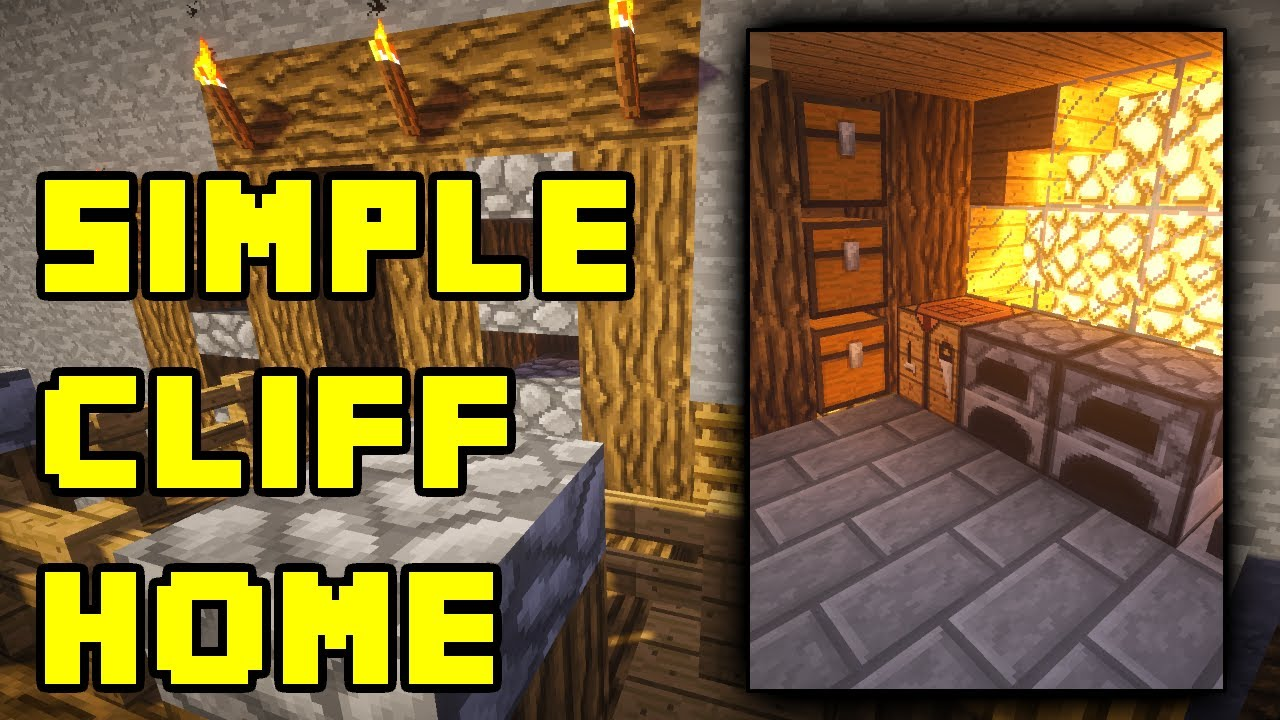 Minecraft Simple Cliff Cave House Base Build Tutorial Xbox PS3 PE