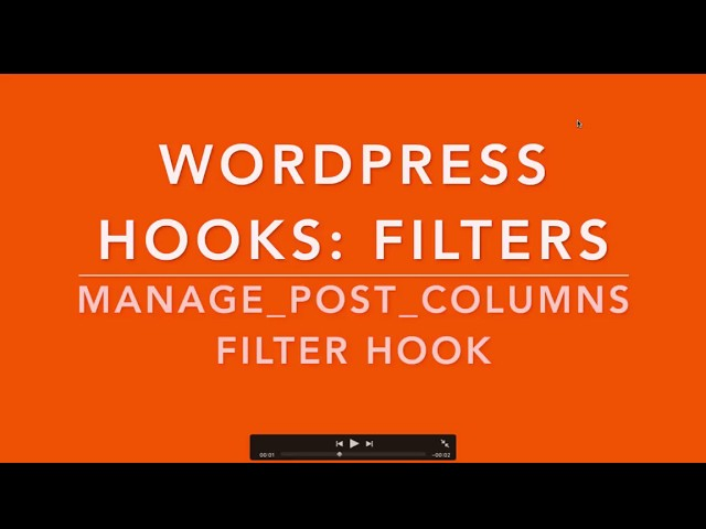 WordPress Hooks Filters manage_posts_columns Part-18 Example