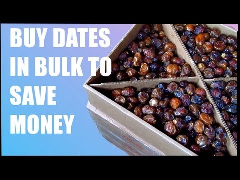 How to Save Money on a Raw Food Diet: Buy Dates in Bulk Online (Only $2.60 a Pound!!)
