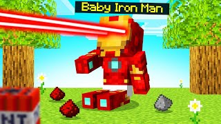 Raising BABY IRONMAN In MINECRAFT! (Cute)