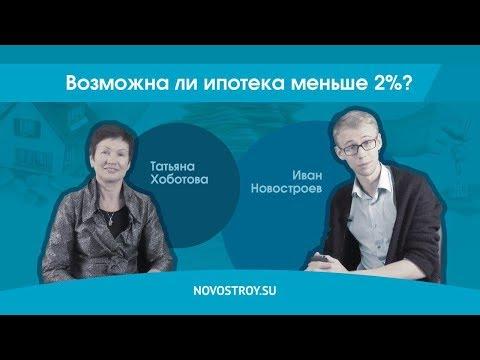 Возможна ли в России ипотека меньше 2% годовых?