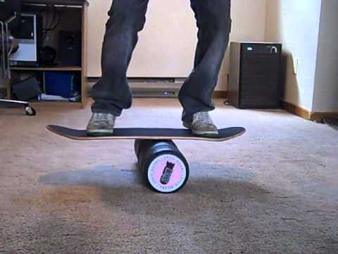 skate deck on indo board roller youtube. Black Bedroom Furniture Sets. Home Design Ideas
