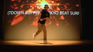 KAZUKI (7DOWN 8UPPER/TOKYO BEAT SURF) JUDGE DEMO / RUN UP! DANCE CONTEST 2015 FINAL