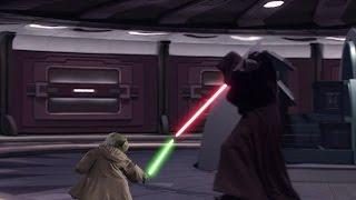 Lightsaber Battle: Yoda vs Darth Tyranus vs Darth Sidious