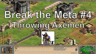 "Aoe2 ""Break the Meta"" #4: Throwing Axemen Rush & 4 Castle Drops"
