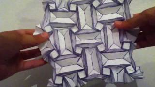 Origami Not So Easy Flasher Tessellation By Jeremy Shafer