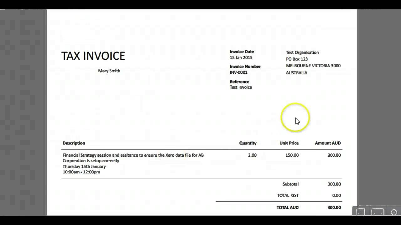Bank Account Details On Xero Invoice Tips From A Melbourne - Invoice with bank details