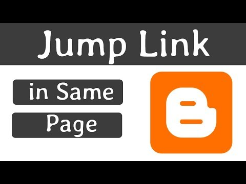 How To Create Jump Link In Blogger Website