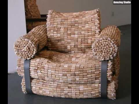 recycling m bel aus korken youtube. Black Bedroom Furniture Sets. Home Design Ideas